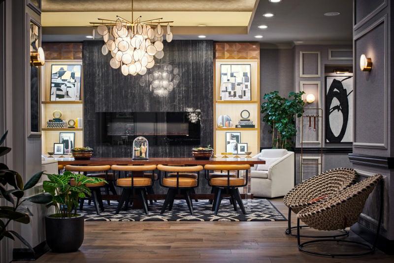Claridge house lobby table