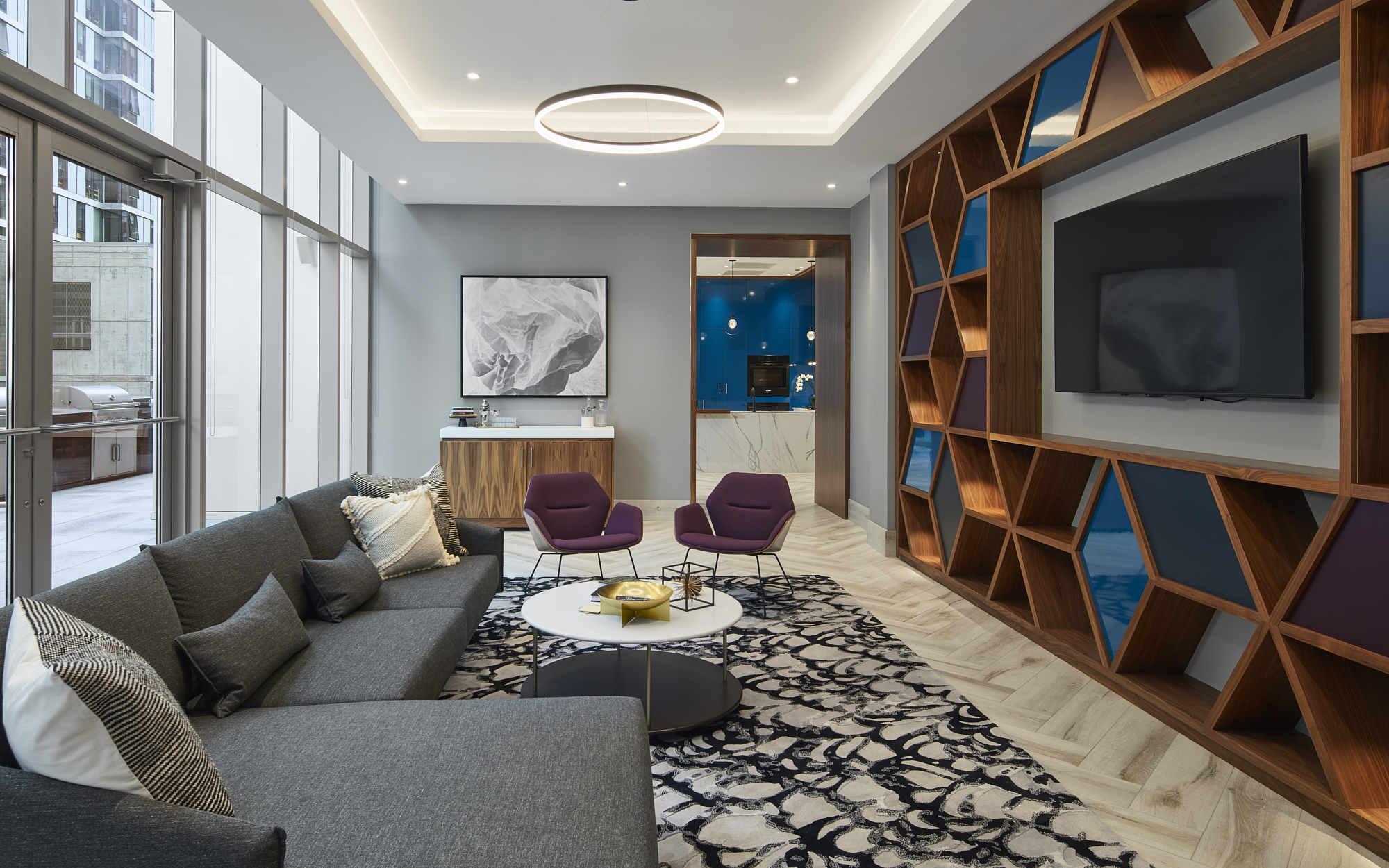 Essex apartments community lounge space