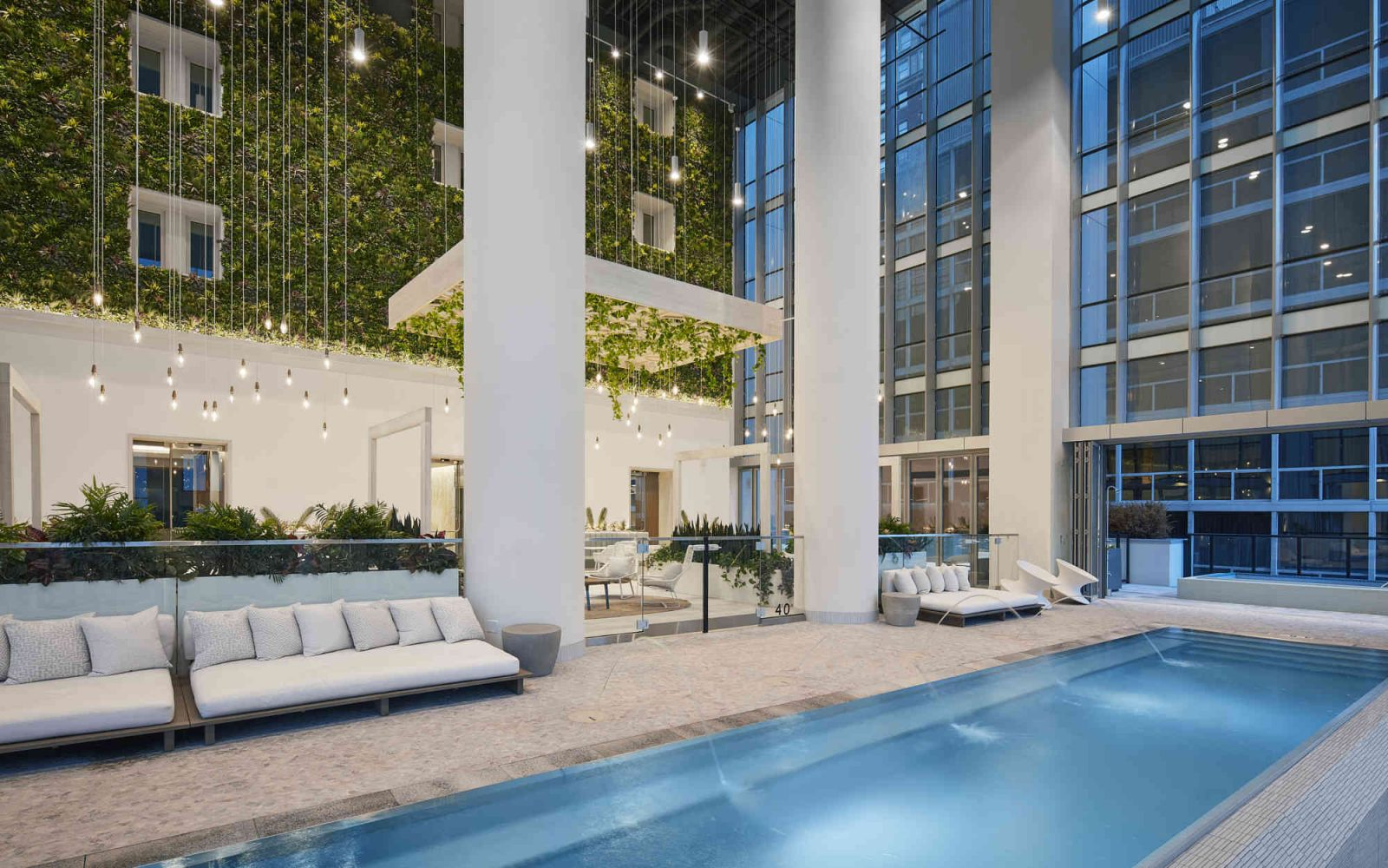 Essex interior pool with couches