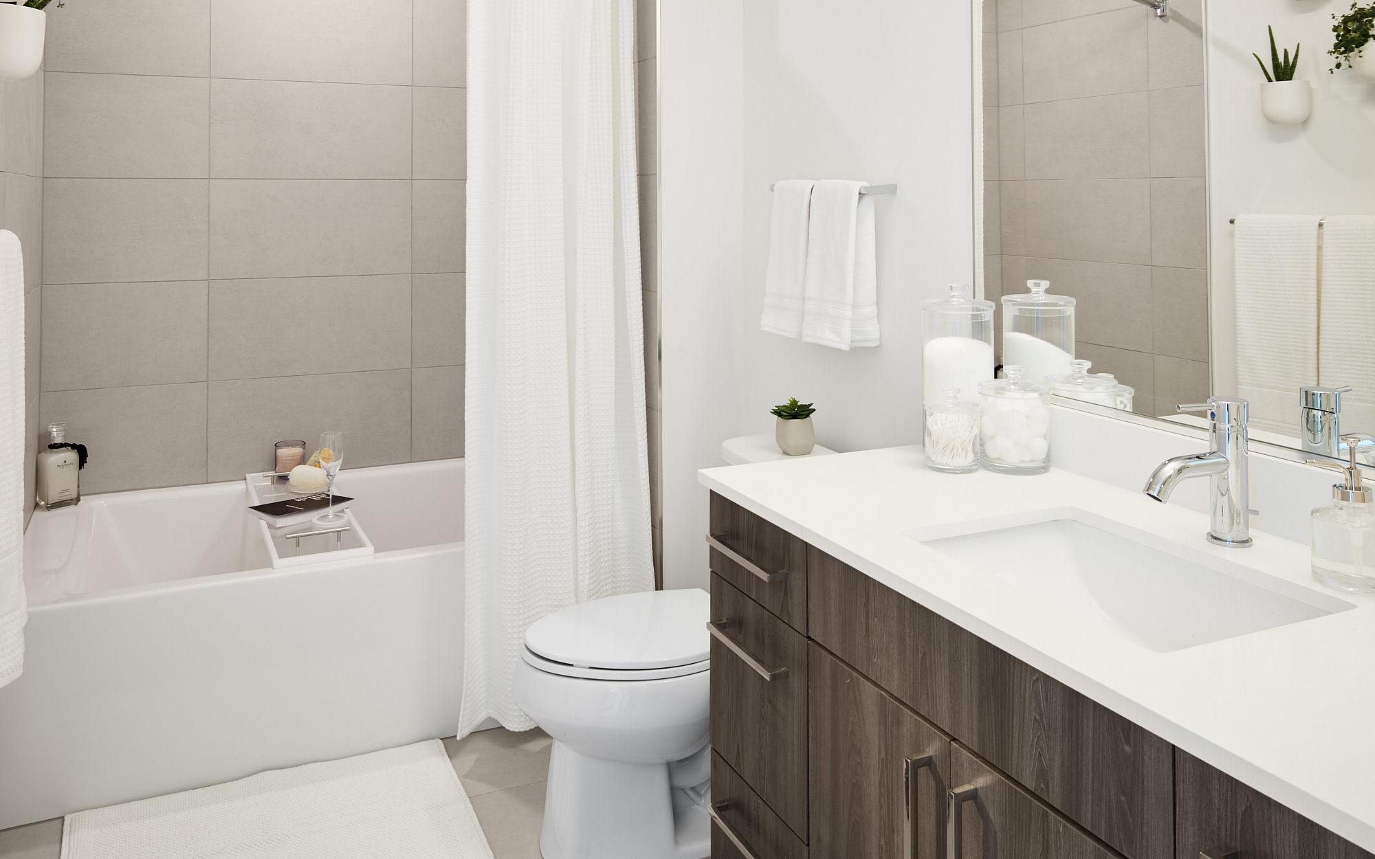 Essex model bathroom with bath