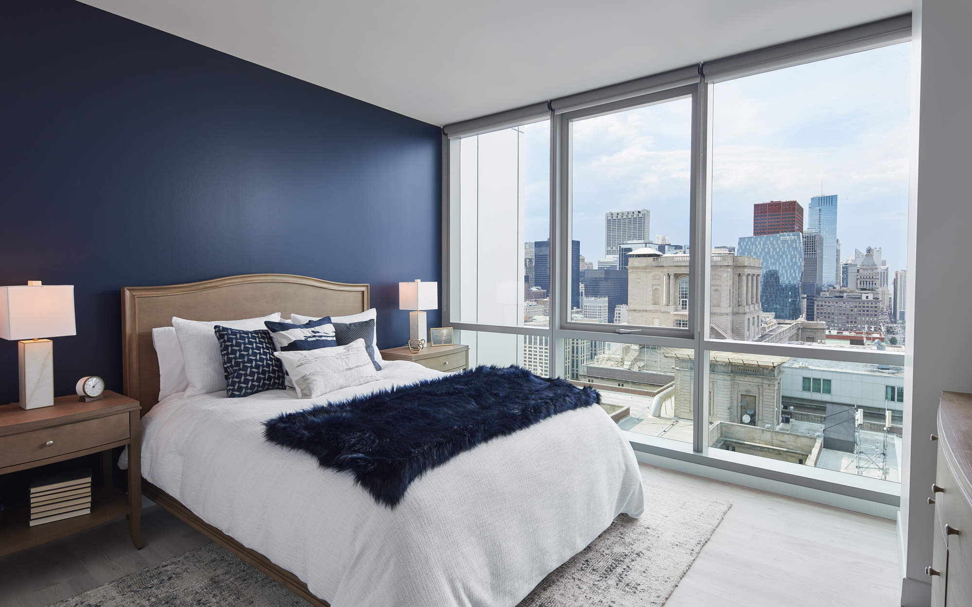Essex bedroom example 2 open window with city view