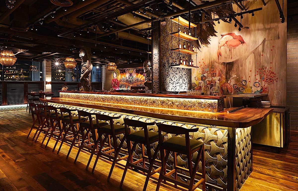 Godfrey Indoor bar and mural art