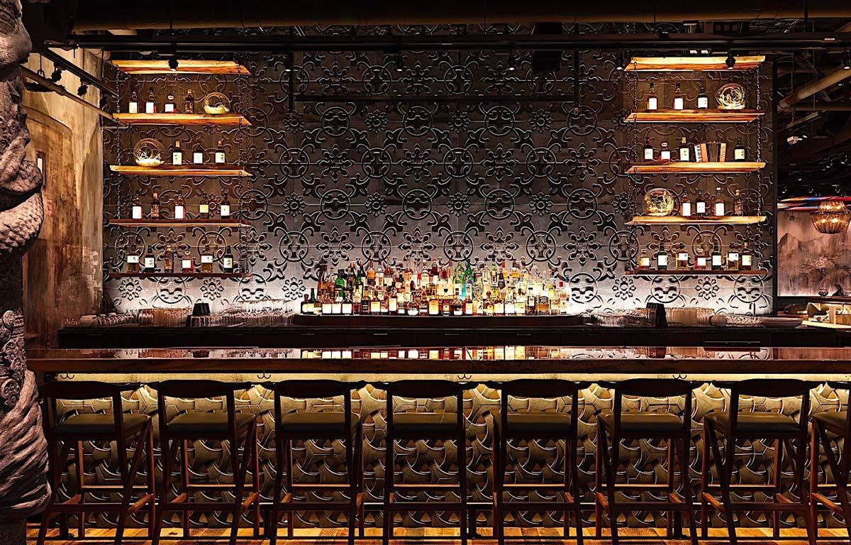 Godfrey Boston nigh-time bar view
