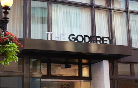 Godfrey Boston exterior building sign