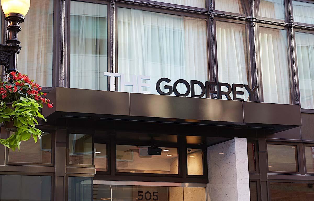 Godfrey Boston exterior building sign