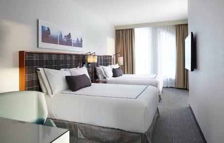 Godfrey Boston standard double bed guest room