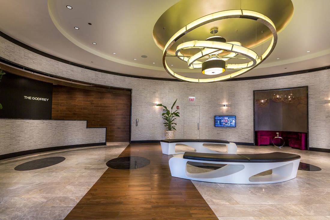 Godfrey chicago elliptical lobby seating