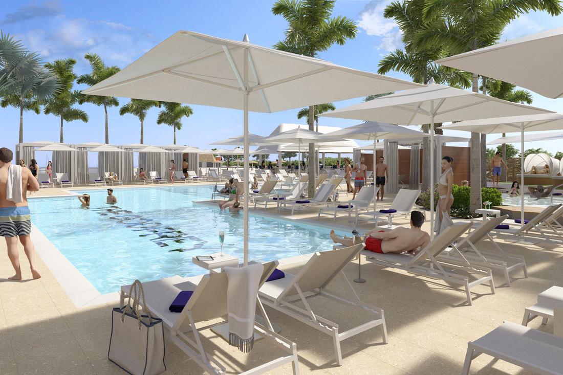 Godfrey Tampa outdoor pool and cabanas
