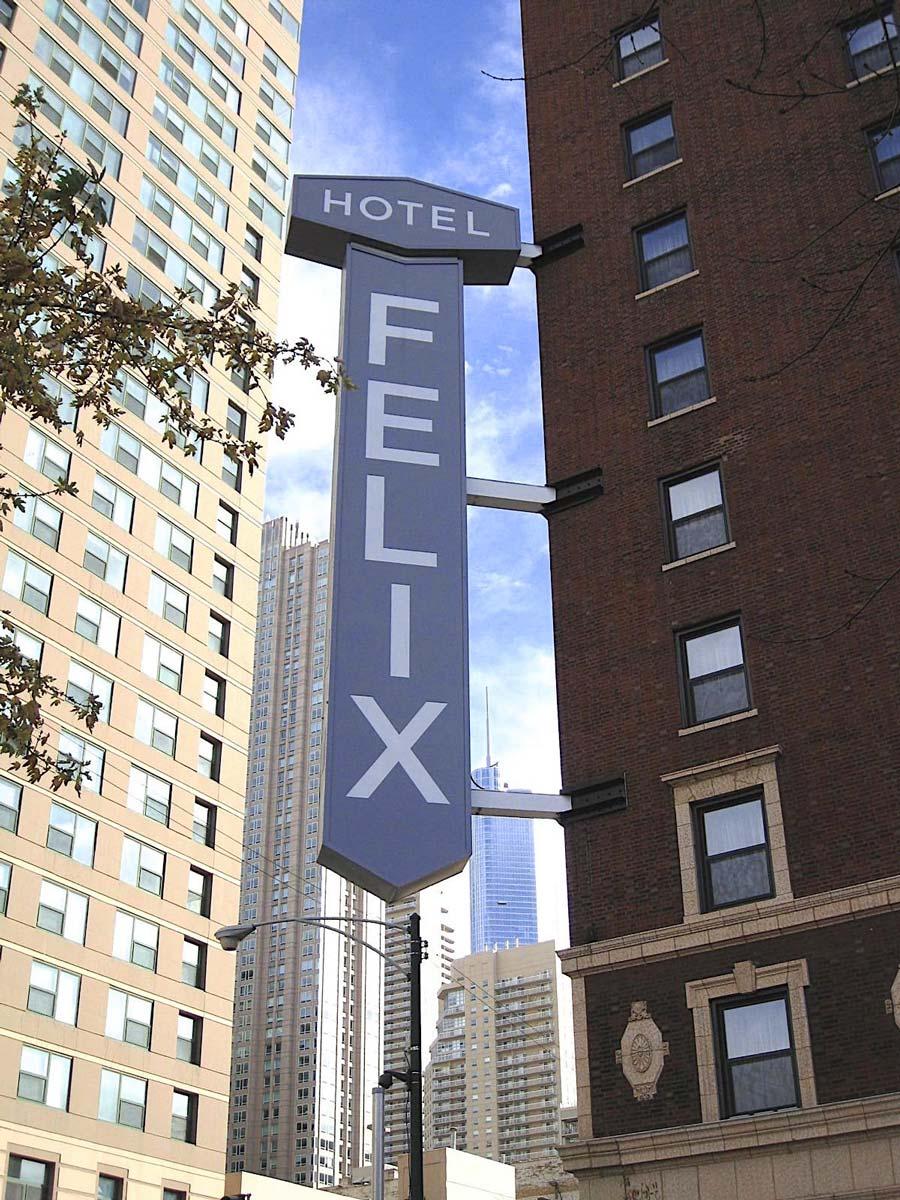 Hotel felix exterior sign