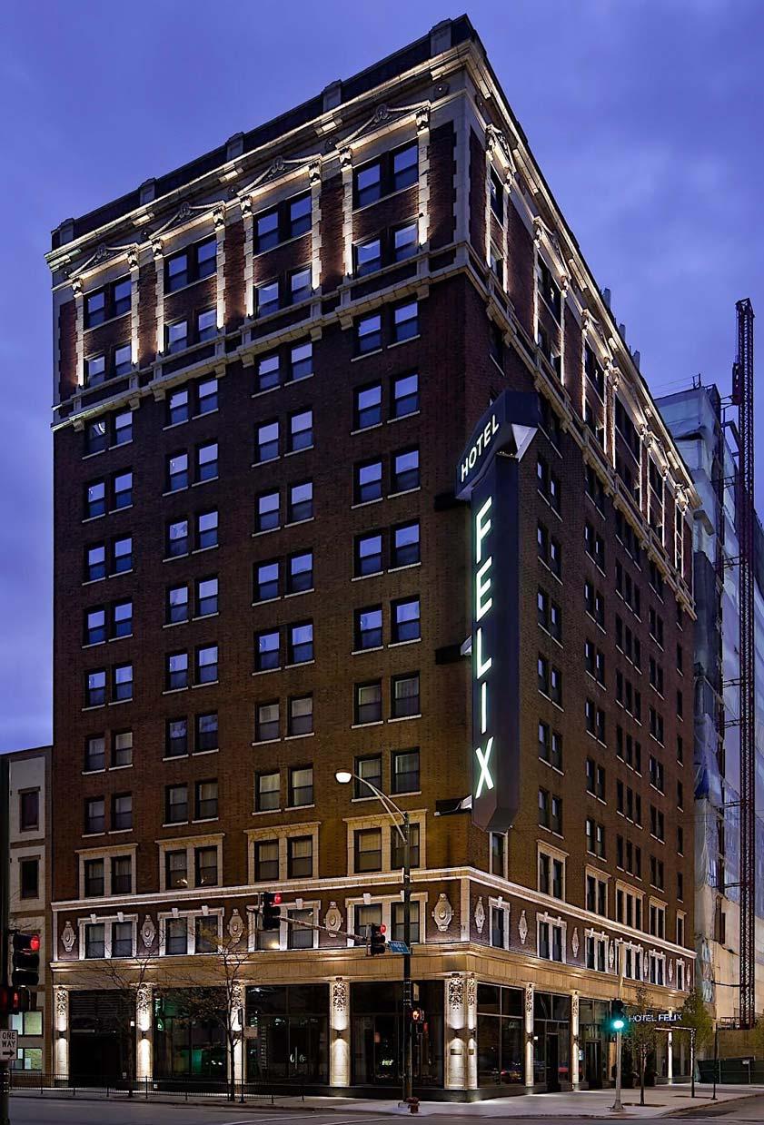 Hotel felix exterior corner view