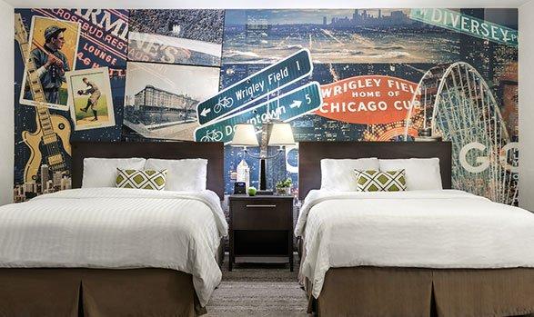 Hotel Versey double bedroom