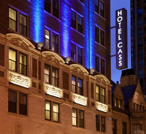 Hotel Cass sign