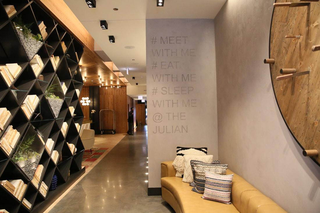 Hotel Julian lobby hallway
