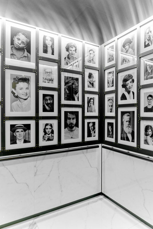 Hotel Julian black and white portrait wall