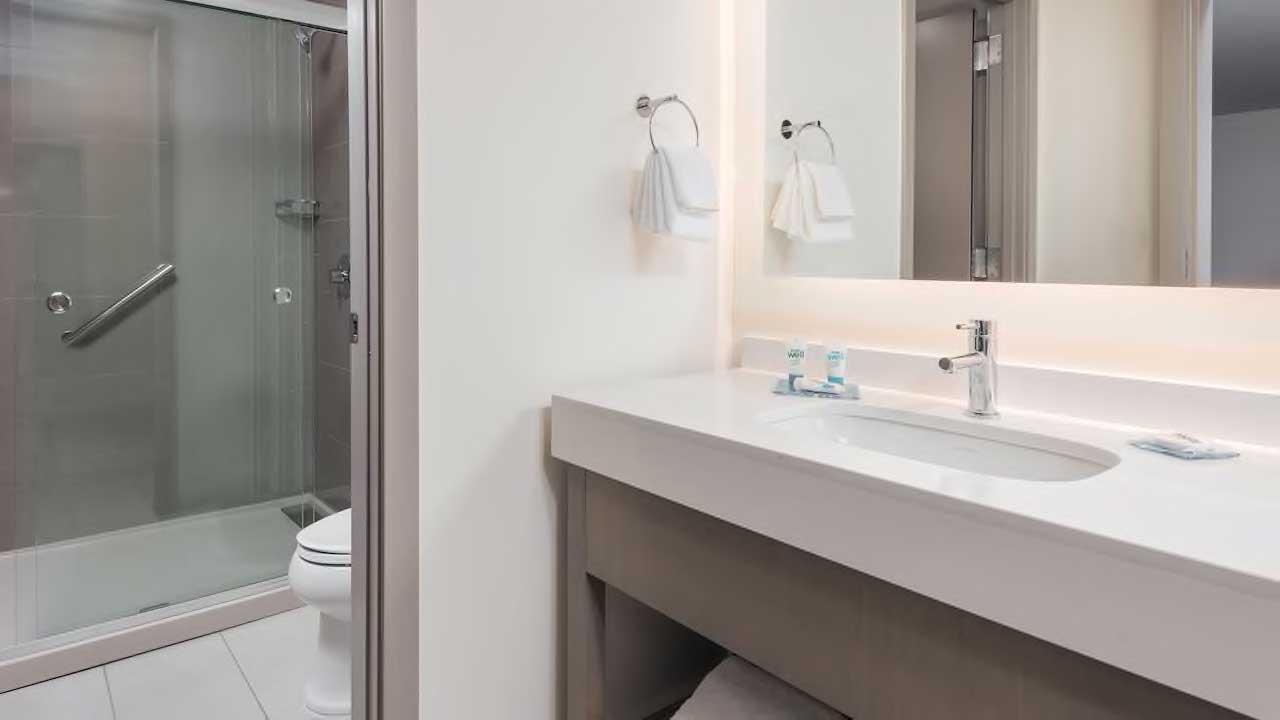 Hyatt house guest bathroom