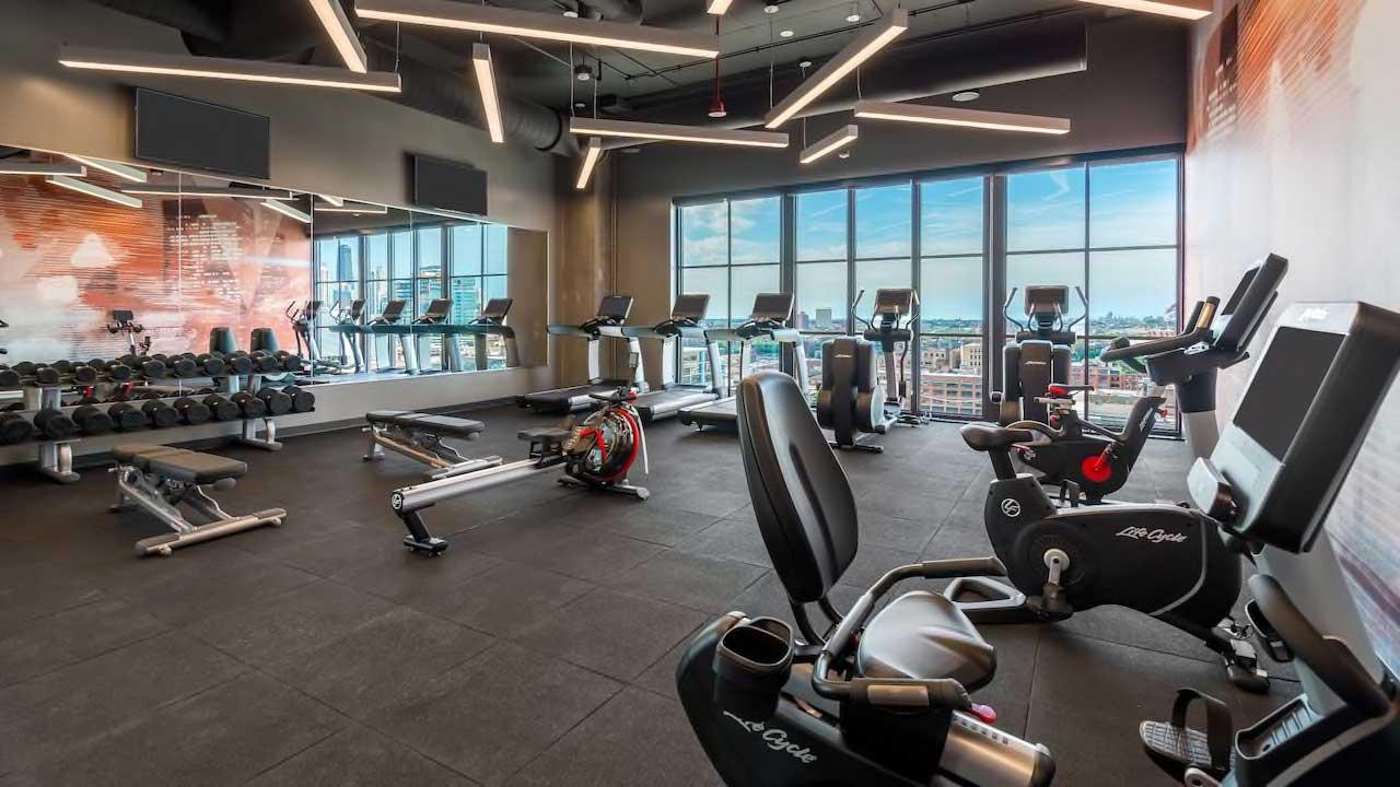Hyatt House Fitness center machinery