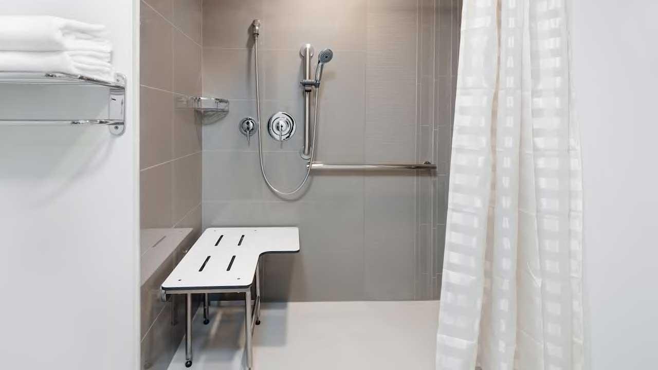 Hyatt House handicap accessible walk in shower
