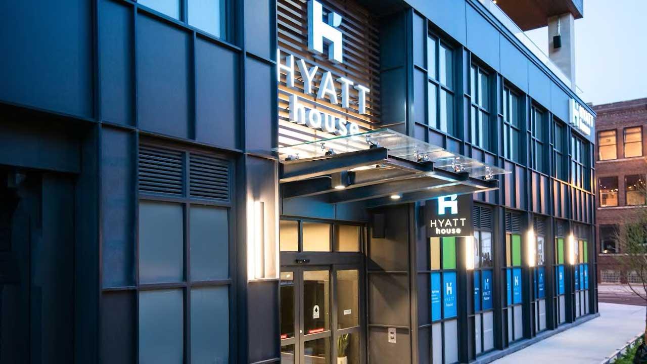 Hyatt House sidewalk entrance