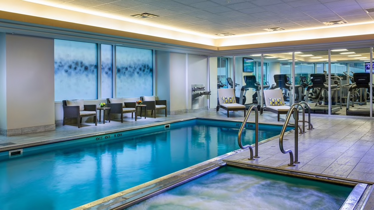 Hyatt indoor pool and fitness center