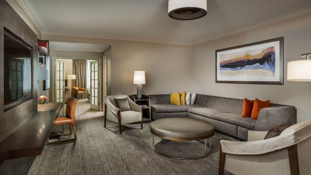 Hyatt executive suite living room