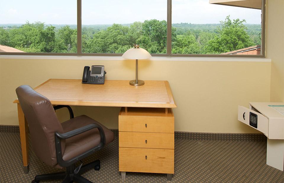 National conference center guest room desk area