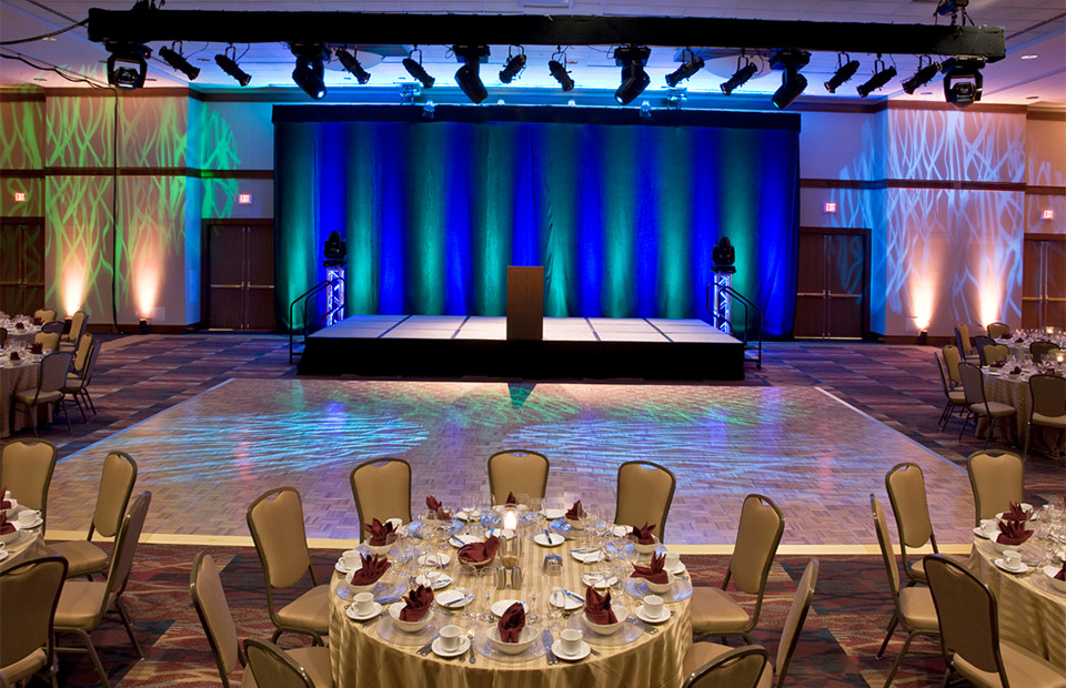 National Conference Center ballroom and dance floor
