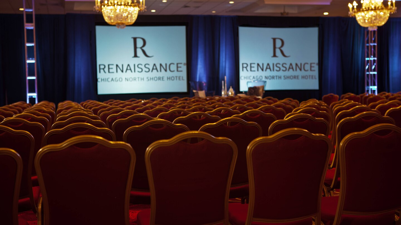 Renaissance Theater presentation setup