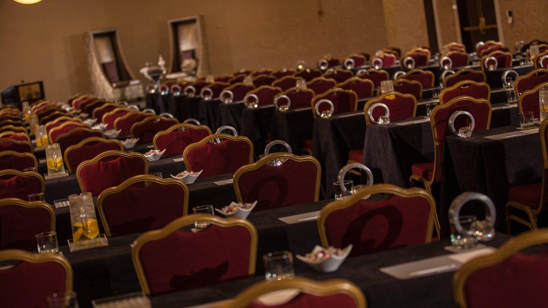 Renaissance ballroom presentation setup