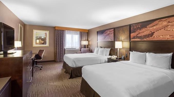 Wilmington double tree double queen bed room