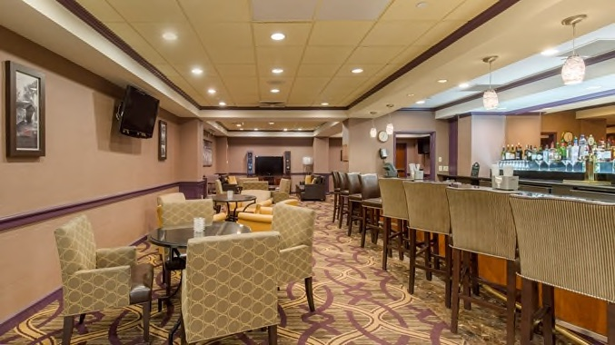 Double tree bar and seating