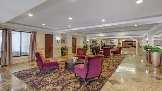 Wilmington Double Tree lobby seating