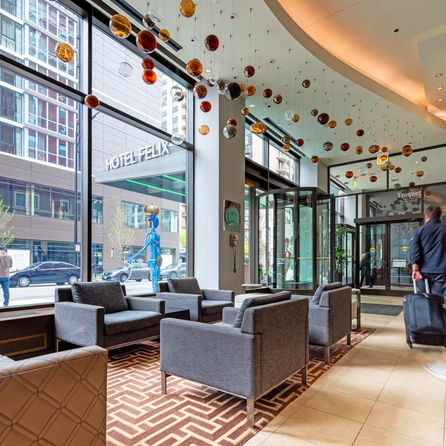 Hotel Felix lobby area