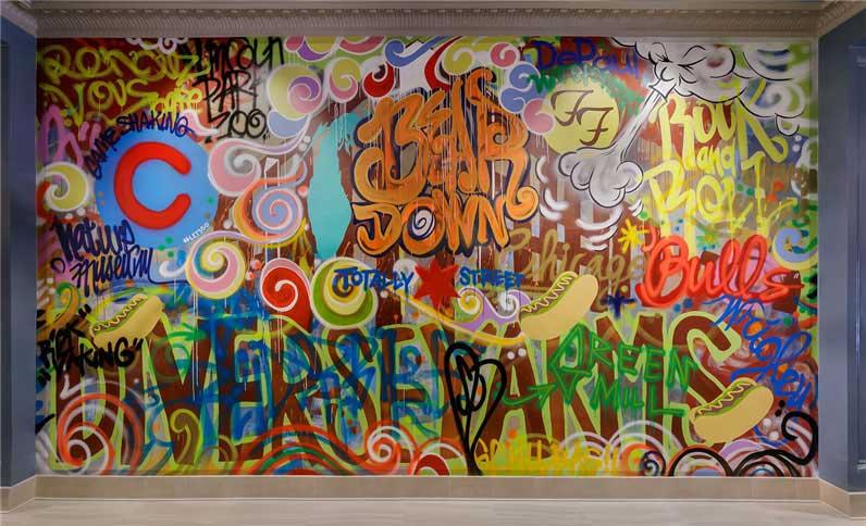 Hotel Versey Graffiti wall mural