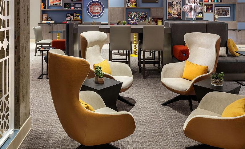 Hotel Versey lobby chairs
