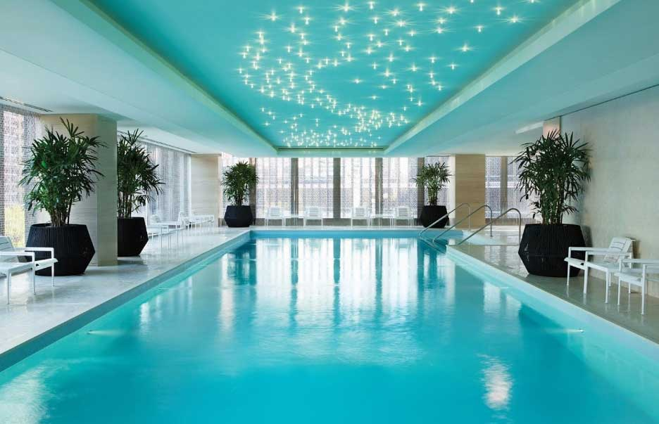 Langham indoor pool with star lit ceiling