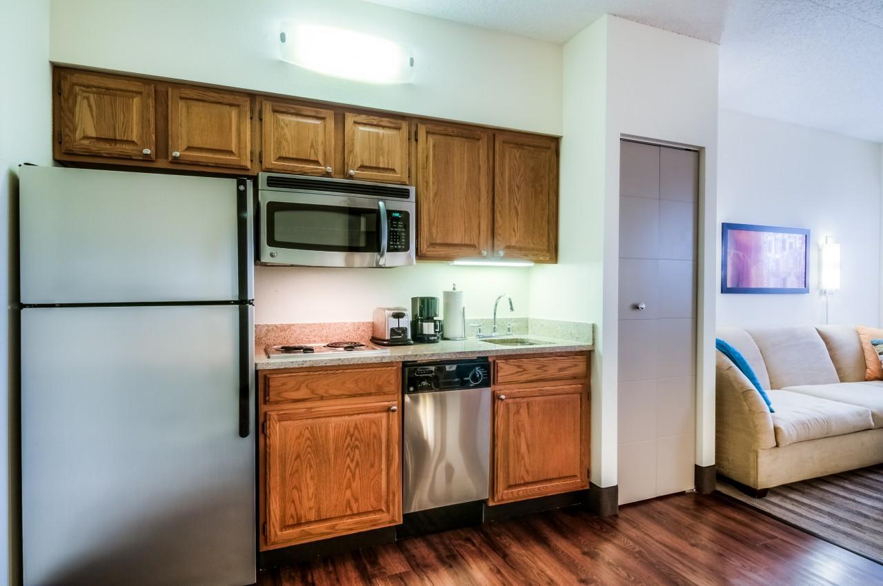 Hyatt House kitchenette