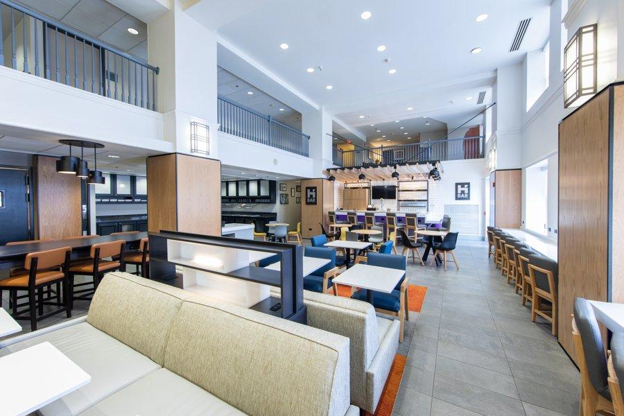 Hyatt House H bar and dining space