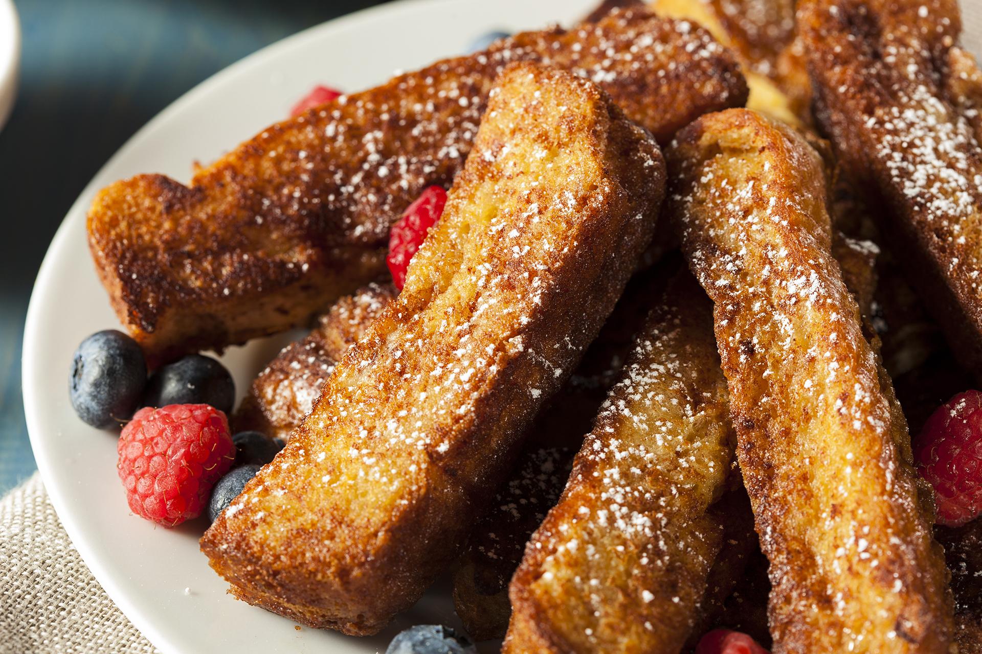 French toast sticks IO menu