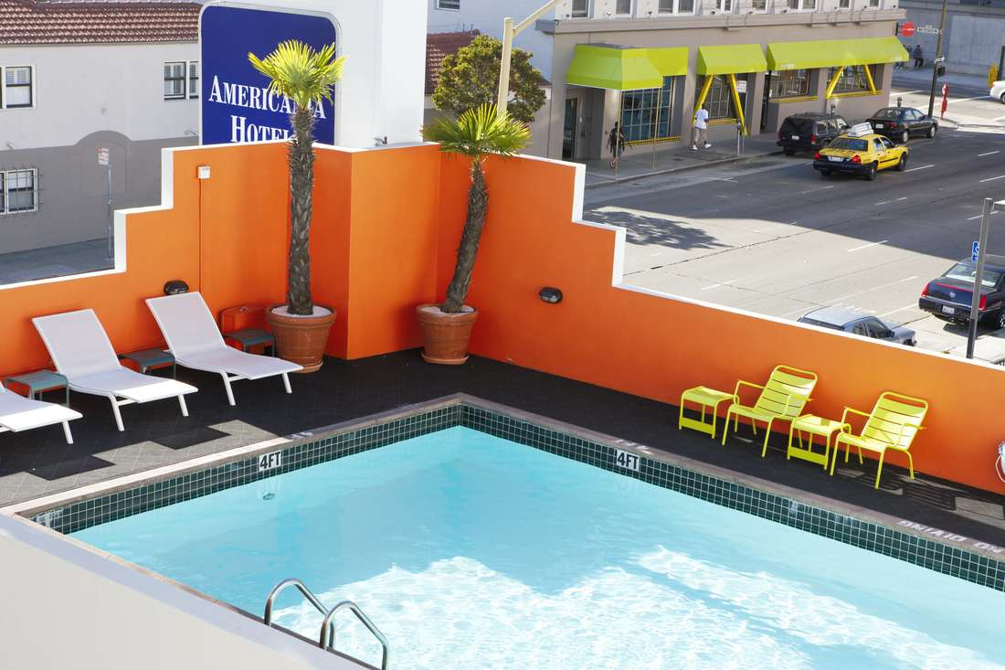 Americania Hotel heated pool and patio