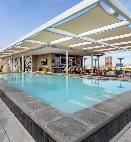 Cambria rooftop pool