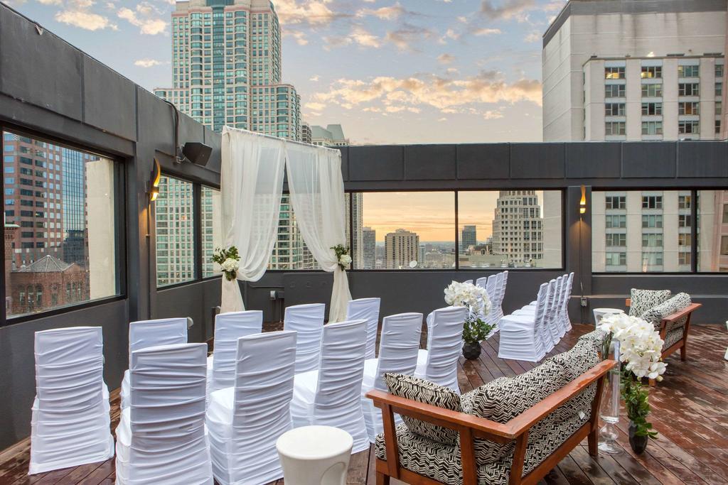 Hotel 166 Rooftop Patio Wedding